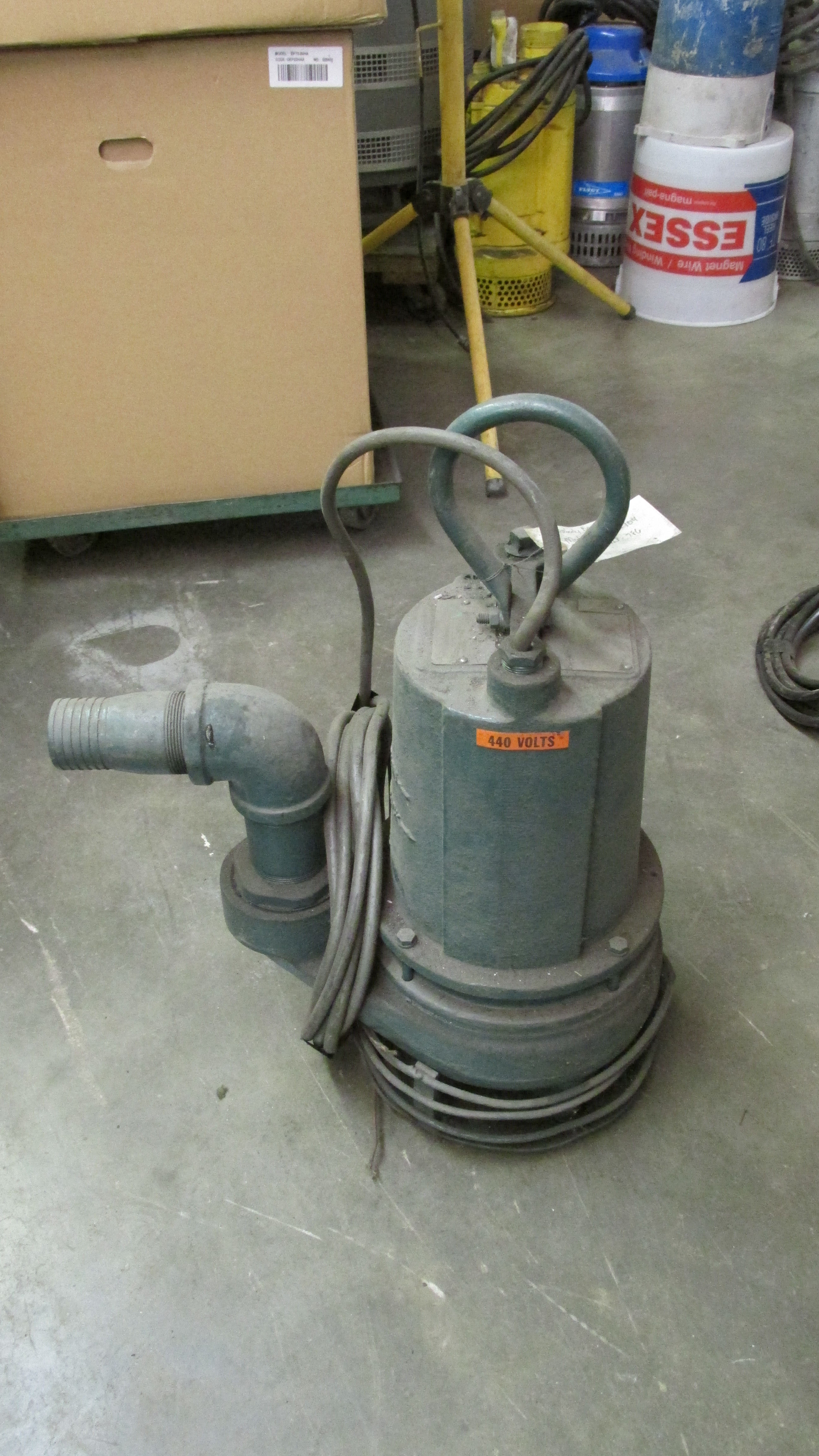 products npt discharge hp submersible phase p pump barns manual sump effluent rpm volts large cord ft model barnes