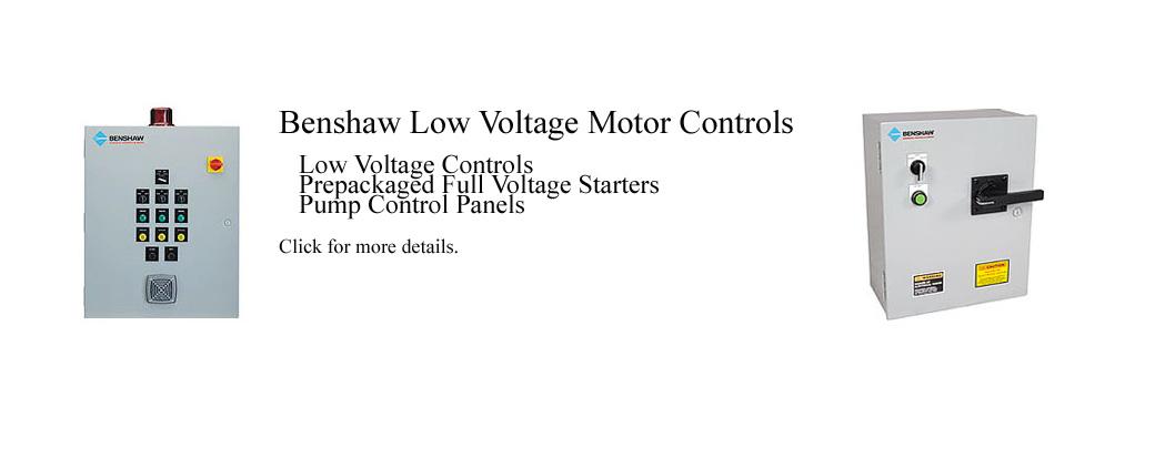Benshaw Low Voltage Motor Controls